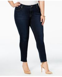 Lucky Brand - Plus Size Ginger Navy Wash Skinny Jeans - Lyst