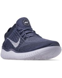 new concept f4c6d 0d850 Nike - Free Rn Flyknit 2018 Running Sneakers From Finish Line - Lyst