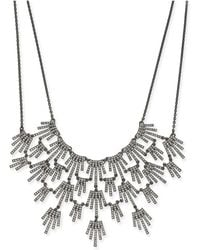 """INC International Concepts - I.n.c. Hematite-tone Crystal Burst Statement Necklace, 16"""" + 3"""" Extender, Created For Macy's - Lyst"""