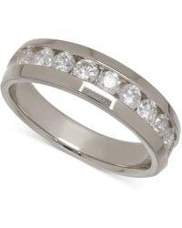 Macy's - Men's Diamond Band In 14k White Gold (1 Ct. T.w.) - Lyst