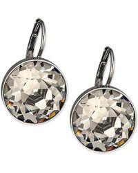 Swarovski - Silver-tone Faceted Crystal Drop Earrings - Lyst