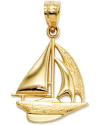 Macy's - 14k Gold Charm, Sailboat Charm - Lyst