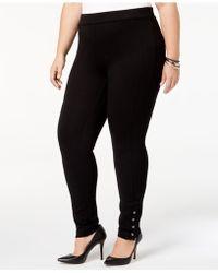 Style & Co. - Plus Size Ponté Knit Snap-bottom Leggings - Lyst