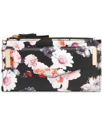 Nine West - Small Double Zip Wallet With Pouch - Lyst