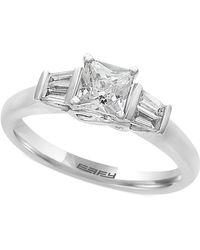 Effy Collection - Diamond Engagement Ring (5/8 Ct. T.w.) In 18k White Gold - Lyst