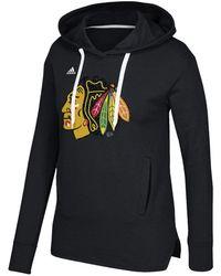 adidas - Women's Logo Shine Hooded Sweatshirt - Lyst