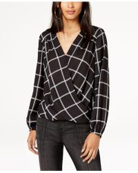 INC International Concepts - I.n.c. Printed Faux-wrap Top, Created For Macy's - Lyst