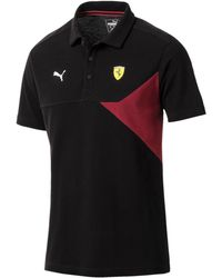 PUMA - Ferrari Colorblocked Polo - Lyst