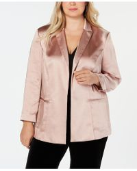 INC International Concepts - I.n.c. Plus Size Open-front Blazer, Created For Macy's - Lyst