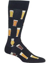 Hot Sox - Printed Crew Socks - Lyst