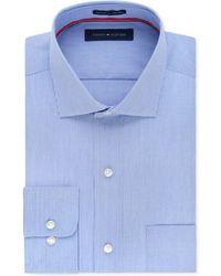 Tommy Hilfiger - Men's Big & Tall Classic-fit Non-iron Blue Fine Stripe Dress Shirt - Lyst