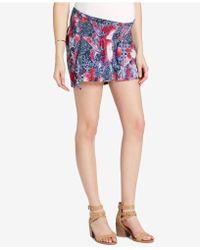 Jessica Simpson | Maternity Smocked Shorts | Lyst