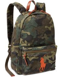 Polo Ralph Lauren - Camouflage Canvas Backpack - Lyst 3e7c553f1c