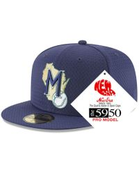 KTZ - Milwaukee Brewers Retro Classic Batting Practice 59fifty Fitted Cap -  Lyst e19fd5ff61fc