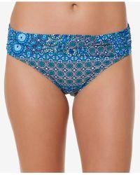 Bleu Rod Beattie - Printed Foldover Hipster Bikini Bottoms - Lyst