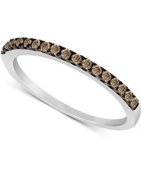 Le Vian - Chocolate Diamond Pave Band (1/4 Ct. T.w.) In 14k White Gold - Lyst
