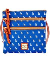 Dooney & Bourke - Los Angeles Dodgers Triple Zip Cotton Crossbody Bag - Lyst