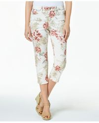 Charter Club - Petite Floral-print Capri Pants, Created For Macy's - Lyst