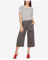 Avec Les Filles - Tie-waist Cropped Pants - Lyst