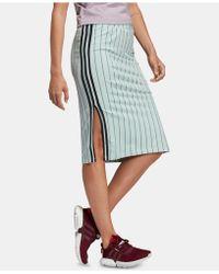 adidas - Originals Stripe Out Slit Skirt - Lyst
