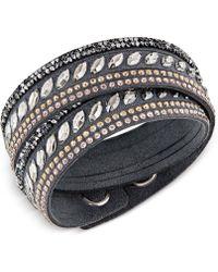 Swarovski - Stainless Steel Slake Pulse Crystal Wrap Bracelet - Lyst