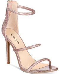 Bebe - Berdine Ankle-strap Dress Sandals - Lyst