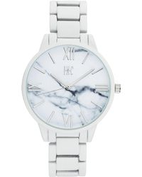 INC International Concepts - White Rubberized Link Bracelet Watch 38mm, Created For Macy's - Lyst