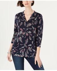 583b98c84c611 Lyst - Charter Club Petite Striped Sleeveless Shirt