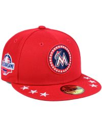 official photos c0758 b6ae9 KTZ - Miami Marlins All Star Workout 59fifty Fitted Cap - Lyst