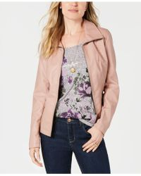 Style & Co. - Faux-leather Moto Jacket, Created For Macy's - Lyst