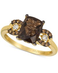 Le Vian - ® Smoky Quartz (1-9/10 Ct. T.w.) & Diamond (1/8 Ct. T.w.) Ring In 14k Gold - Lyst