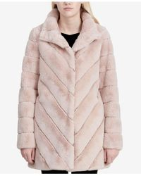 CALVIN KLEIN 205W39NYC - Chevron-quilted Faux-fur Coat - Lyst