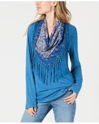 Style & Co. - Scarf Top, Created For Macy's - Lyst