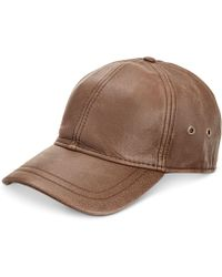 Dorfman Pacific - Men's Leather Baseball Cap - Lyst