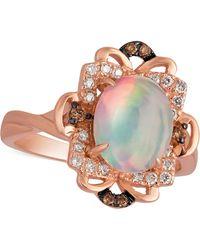 Le Vian - Opal (1-1/5 Ct. T.w.) And Diamond (1/6 Ct. T.w.) Ring In 14k Rose Gold - Lyst