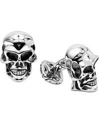 Scott Kay - Men's Skull Cuff Links In Sterling Silver - Lyst