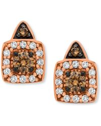 Le Vian - Chocolate And White Diamond Stud Earrings In 14k Rose Gold (1/3 Ct. T.w.) - Lyst