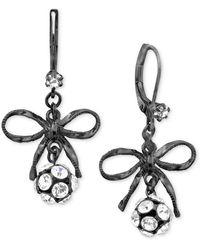 Betsey Johnson - Bow Earrings - Lyst