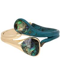 Robert Lee Morris - Gold-tone Abalone-look Bypass Bangle Bracelet - Lyst