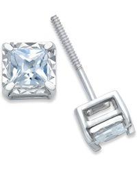 Macy's - Diamond Stud Earrings (1/4 Ct. T.w.) In 14k White Gold - Lyst