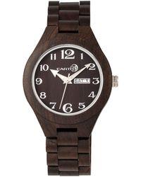 Earth Wood - Sapwood Wood Bracelet Watch W/date Brown 41mm - Lyst