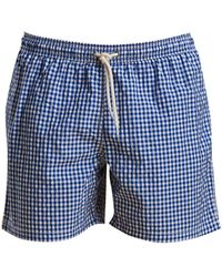 """Barbour - Tailored-fit Gingham 5-1/2"""" Swim Trunks - Lyst"""
