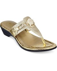 Marc Fisher - Amina Thong Sandals - Lyst