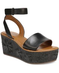 Franco Sarto | Jovie Platform Wedge Sandals | Lyst