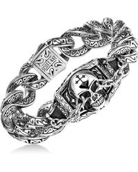 Scott Kay - Men's Skull Link Bracelet In Sterling Silver - Lyst