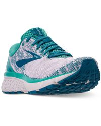 44d3375f0c4 Lyst - Brooks Women s Ghost 10 Running Sneakers From Finish Line in ...