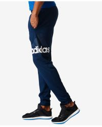 adidas - Essentials Climalite Logo Pants - Lyst
