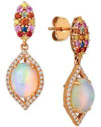 Le Vian - ® Opal (1-5/8 Ct. T.w.), Multi-sapphire (1/2 Ct. T.w.) And Diamond (1/4 Ct. T.w.) Drop Earrings In 14k Rose Gold - Lyst