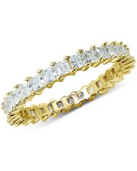 Giani Bernini - Cubic Zirconia Stackable Princess Eternity Band, Created For Macy's - Lyst