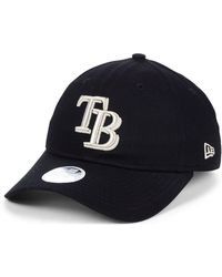 low priced e02f0 54dc7 KTZ Tampa Bay Rays Heather Tipped Bucket Hat in Gray - Lyst